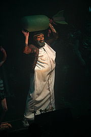 Character representing Osama Bin Laden as part of GWAR concert in Edmonton, 2004