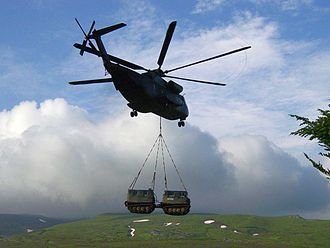 Bandvagn 206 - A Bv206D being transported by a German Army CH-53