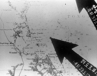 USS Pueblo (AGER-2) - North Korean chart showing where they say they captured USS Pueblo