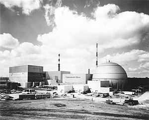 Dresden Generating Station - Exterior view of Dresden Station circa 1971