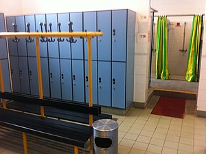 Changing room - Changing room inside a sports hall