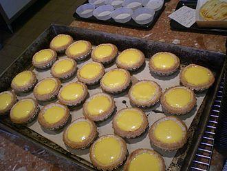 Egg tart - Fresh baked egg tarts in Hong Kong