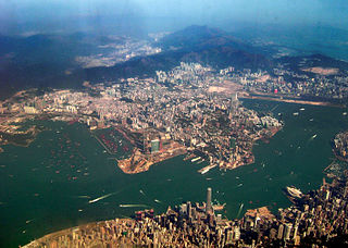 peninsula that forms the southern part of the main landmass in the territory of Hong Kong