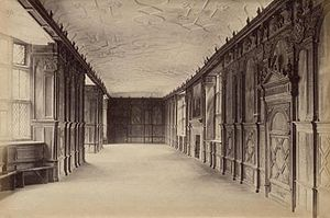 Haddon Hall - Haddon Hall's long gallery c.1890