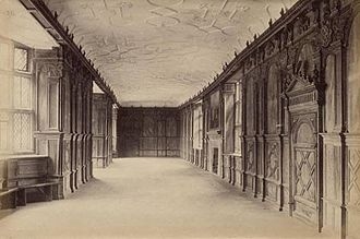 Long gallery - Haddon Hall's long gallery c.1890