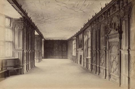 Haddon Hall-1-. Long Gallery c.1890.