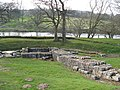 Hadrian's Wall and Chesters bridge abutment - geograph.org.uk - 809537.jpg