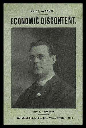 Thomas J. Hagerty - Cover of Hagerty's pamphlet Economic Discontent and Its Remedy, published by Eugene and Theodore Debs in 1902.