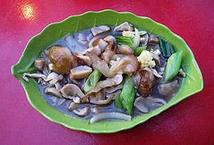 Sea cucumber as food - Haisom cah jamur, Chinese Indonesian sea cucumber with mushroom