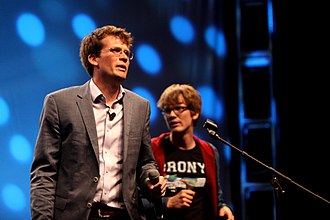 John Green (author) - John (left) with his brother, Hank