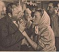 Hanka Bielicka i Jan Kurnakowicz - Jasne łany - Film nr 31-32 - 1947-12-24.JPG