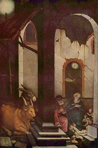 O Magnum Mysterium - Painting of the Nativity scene, by Hans Baldung (1520)