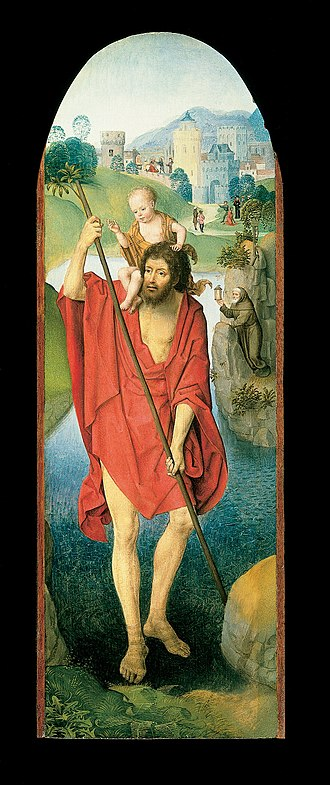 Cincinnati Art Museum - Image: Hans Memling Saint Christopher Google Art Project