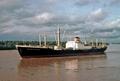 Hapag Lloyd cargo ship Munsterland - Bangkok on the Chao Phraya River - 1975-76.png