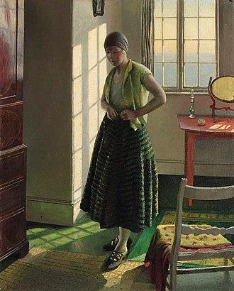 Harold Harvey (artist) - Image: Harold Harvey Gertrude in an Interior 1929