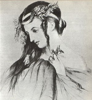 Hector Berlioz - Drawing of Harriet Smithson as Ophelia in Shakespeare's Hamlet