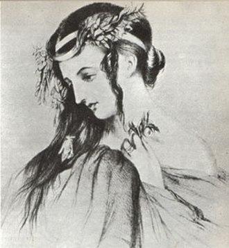 Hector Berlioz - Drawing of Harriet Smithson as Ophelia in Shakespeare's Hamlet