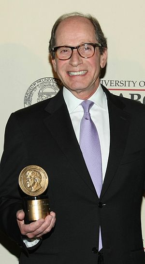 Harry Friedman - Friedman in 2012, holding the Peabody Award received for Jeopardy!