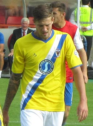 Harry Pell - Pell playing for AFC Wimbledon in 2013