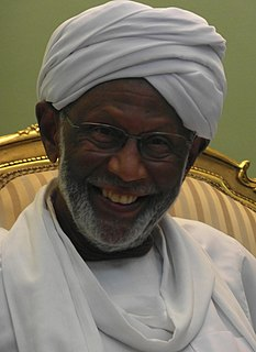 Hassan Al-Turabi Sudanese religious and political leader