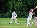 Hatfield Heath CC v. Netteswell CC on Hatfield Heath village green, Essex, England 08.jpg