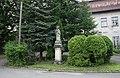 Havířov, Životice, socha sv. Jana Nepomuckého před zámkem (4).JPG