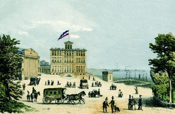 Heiligendamm um 1841 Salon und Badehaus, Godewind Verlag