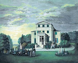 Hellerup - Namesake Hellerupgård as it appeared after 1802