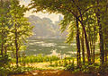 Henri Biva, A sun drenched river view, oil on canvas, 46 x 65.1 cm.jpg
