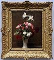 Henri fantin-latour, gigli e gerani in un vaso bianco, 1863.jpg