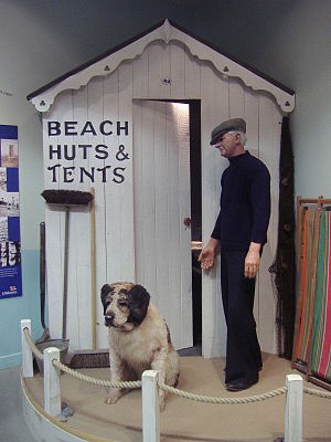 Henry Blogg - Henry Blogg and his dog Monte, (RNLI Henry Blogg Museum)