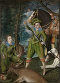 Portrait of Henry, Prince of Wales, and John Harington, by Robert Peake the Elder