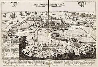 Samuel Ampzing - Image: Het beleg van Haarlem in 1572 (Pieter Jansz. Saenredam, 1628)