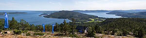 High Coast - Image: High Coast from Skuleberget Panorama