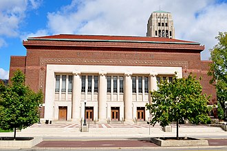 University of Michigan - Hill Auditorium and Burton Tower