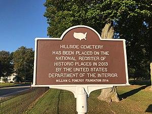 Hillside Cemetery (Clarendon, New York) - Image: Hillside Cemetery Marker