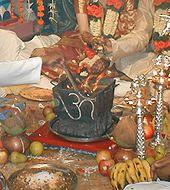 A Yajna during a Hindu wedding