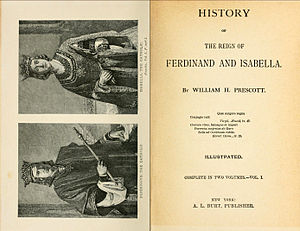 William H. Prescott - Title pages of the History of Ferdinand and Isabella, 1838 edition