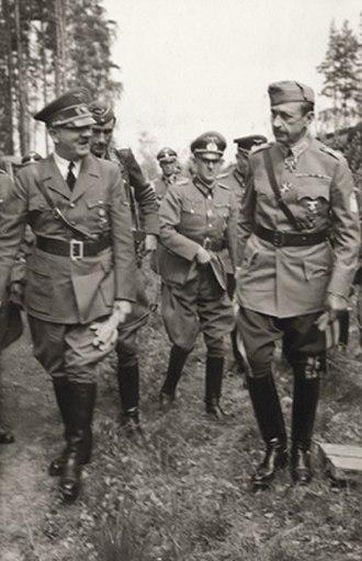 Carl Gustaf Emil Mannerheim - Mannerheim with Hitler