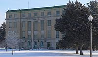 Hodgeman County Courthouse (Kansas) from SW 2