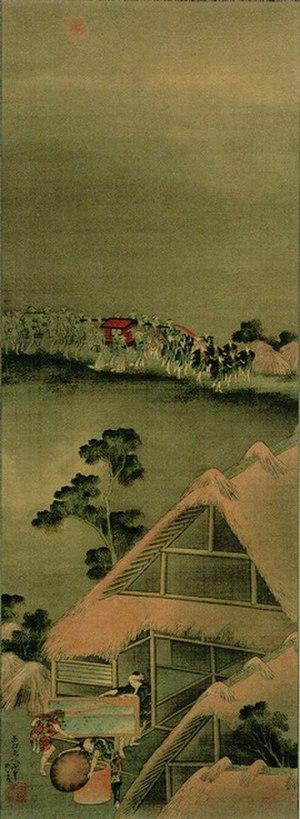 """Kitsune no yomeiri - """"Kitsune no Yomeiri-zu"""" by Hokusai Katsushika"""