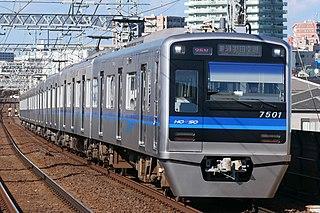 Hokuso 7500 series Japanese electric multiple unit train type