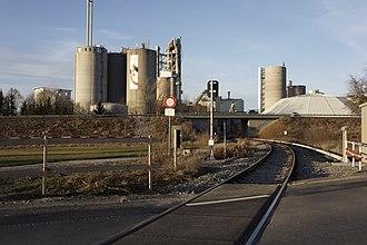 Holcim - Holcim factory in Dotternhausen, Baden-Württemberg, Germany.
