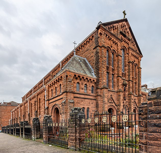 Holy Cross Church And Presbytery in Govanhill, Glasgow, Scotland