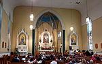 Holy Family Catholic Church (Oldenburg, Indiana) - interior, nave before a wedding Mass.jpg