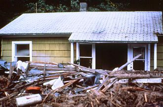 1980 eruption of Mount St. Helens - One of the 200 houses destroyed by the eruption