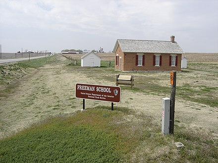 Homestead National Monument of America Gage County Homestead Freeman School.jpg