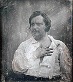 Honoré de Balzac on an 1842 daguerreotype