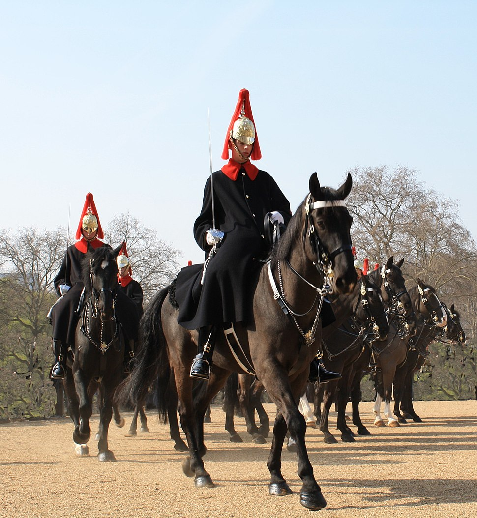 Horseguards - Blues and Royals - Rel%C3%A8ve %C3%A0 Whitehall - Londres