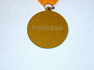 Hotchkiss Scholar - Image: Hotchkiss Scholar Medallion Reverse